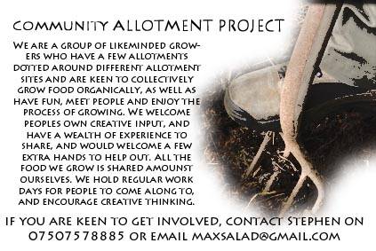 Community allotment poster